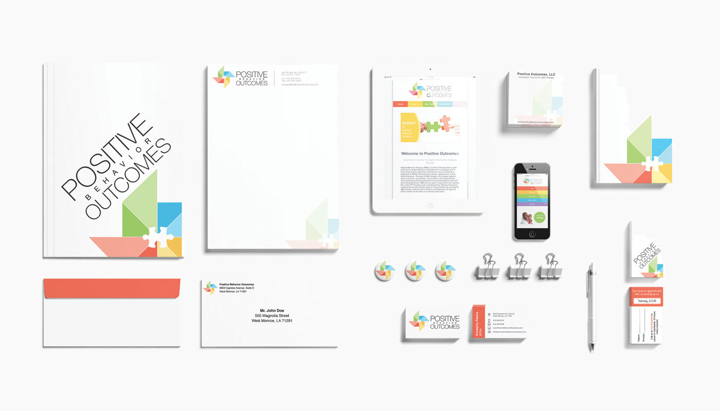 Positive Behavior Outcomes Branding by Kaitlyn Brown