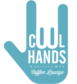 Cool Hands Coffee Shop Logo